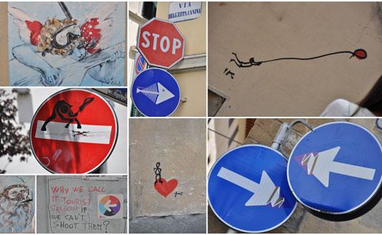 Florence_clet-verkeersborden