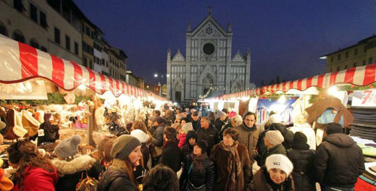 Florence_kerstmarkt-santa croce