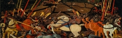 La Battaglia di San Romano in de Uffizi